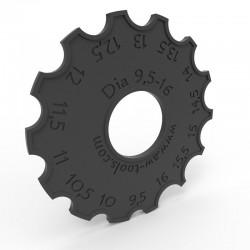 Durchmesser-Lehre Ø9,5-16